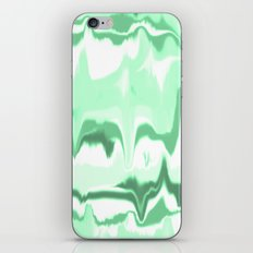 Marbled in emerald iPhone & iPod Skin