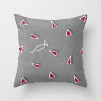 Concrete & Mice Throw Pillow