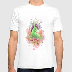 Green donkey SMALL White Mens Fitted Tee