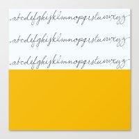 Alphabet-Yellow Canvas Print