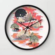 Wall Clock featuring Landscape Of Dreams by Dan Elijah G. Fajard…