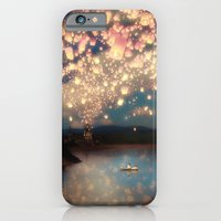 couple iPhone & iPod Cases featuring Love Wish Lanterns by Paula Belle Flores
