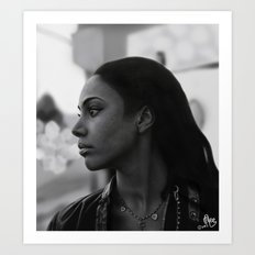 Woman in Harlem Art Print