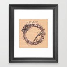 The Ouroboros / Uroboros and Sisyphus Framed Art Print