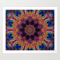 Peacock Fan Star Abstrac… Art Print