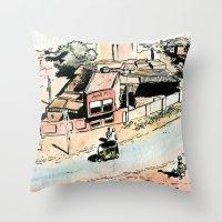 La Rue - The Street Throw Pillow