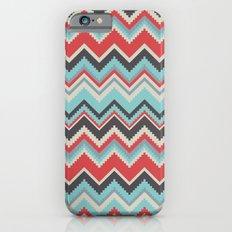 Aztec chevron pattern- grey iPhone 6 Slim Case
