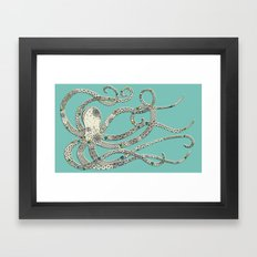 Green Octopus Framed Art Print