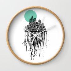 City Drips Wall Clock