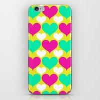 Happy Hearts iPhone & iPod Skin