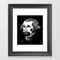 01. Zombie George Washin… Framed Art Print