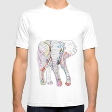 Elephant SMALL Mens Fitted Tee White