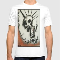 Disgruntled Mens Fitted Tee SMALL White