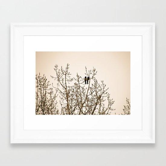 A quiet moment Framed Art Print