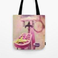 I Rode My Bicycle Past Y… Tote Bag