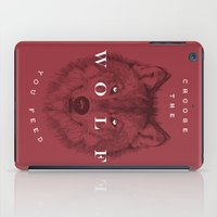 Choose The Wolf You Feed iPad Case