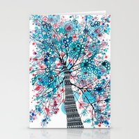 Portrait of a tree Stationery Cards