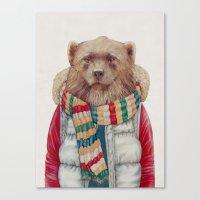 WinterWolverine Canvas Print