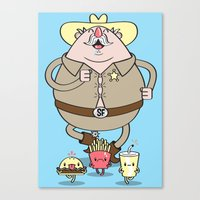 Sherif Fatman and Fast Food Canvas Print