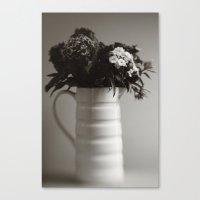 Jug of Flowers Canvas Print