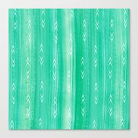 tourmaline gem + arrows pattern Canvas Print