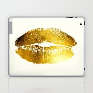 Lips Gold Laptop & iPad Skin