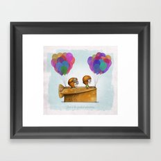 UP Pixar— Love is the greatest adventure  Framed Art Print