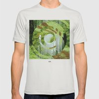 Forest Trips. Mens Fitted Tee Silver SMALL