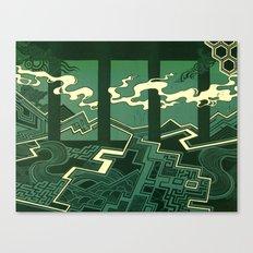 Sleepwalking air between gaps Canvas Print