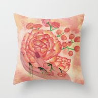 Throw Pillow featuring Watercolor Painting, FRA… by Saribelle Inspiratio…