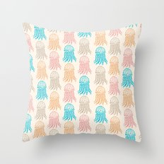 Pastel Marine Pattern 02 Throw Pillow