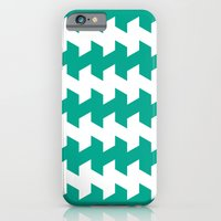 jaggered and staggered in emerald iPhone 6 Slim Case