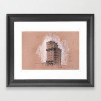 Tagblattturm Stuttgart -… Framed Art Print