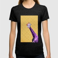 Tis The Season - Giraffe Womens Fitted Tee Tri-Black SMALL
