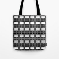 Black And White Brick Tote Bag