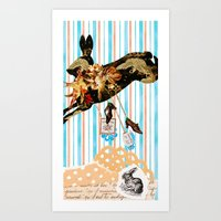 Chinese Lunar New Year and 12 animals ❤ The RABBIT  兔 Art Print