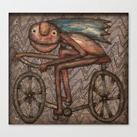 The Biker Canvas Print