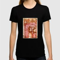 Much Ado About Nothing - Masquerade - Shakespeare Folio Illustration Womens Fitted Tee Black SMALL
