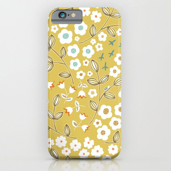 Ditsy Mustard iPhone & iPod Case
