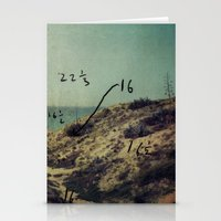 Arsuf Dune & sea reservation, Israel, scaned sx-70 Polaroid with Exposure brackets Stationery Cards