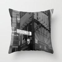 Broadway & W42nd St Throw Pillow