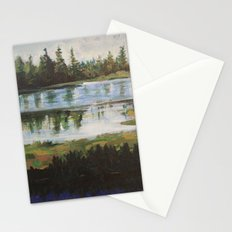 Manzanita Lake Pine Trees  Stationery Cards