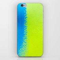 Blue Green Paint iPhone & iPod Skin