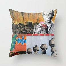 Oppenheimer's Deadly Tiki Toys Throw Pillow