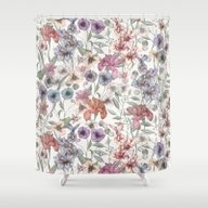 Magical Floral  Shower Curtain