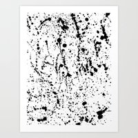 Splatter Black Art Print