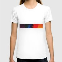 Multi-colors Womens Fitted Tee White SMALL