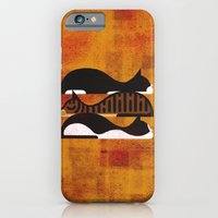 iPhone Cases featuring Cats by Davide Bonazzi