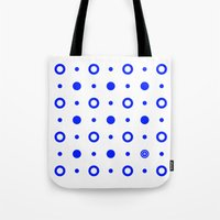 Dots / White Tote Bag