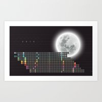 Moon Calendar 2015 By Fr… Art Print